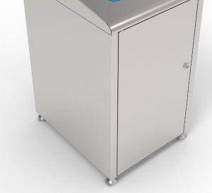T789050 Estructura para contenedor recogida selectiva residuos acero inox 120 litros