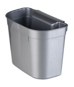 T909205 Cubo de basura colgante de polipropileno gris 5 litros