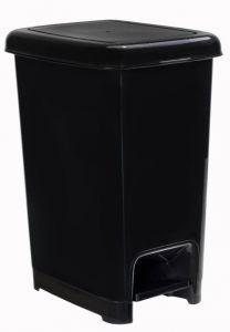 T909810 Pattumiera a pedale polipropilene nero 10 litri (confezione da 18 pezzi)