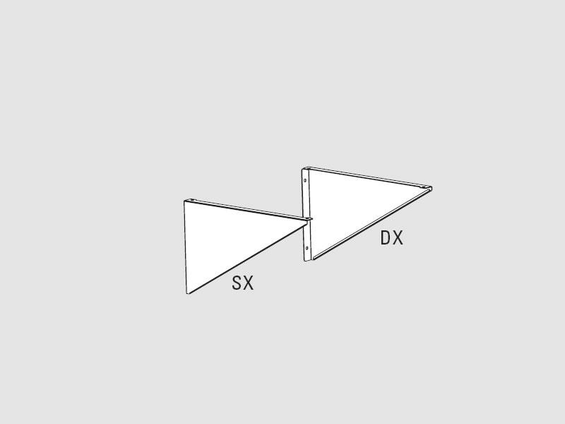 Mensola fissa in acciaio inox per ripiani sx per ripiani for Mensola 30 cm