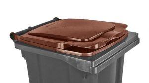 T910134 Tapa marrón para contenedor de residuos externo 120 litros