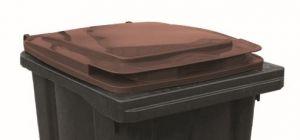 T910254 Tapa marrón para contenedor de residuos externo 240 litros