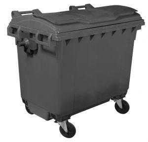 T910660 Contenedor de residuos 4 ruedas 660 litros GRIS  tapa no incluida