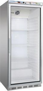 G- ER600GSS Armadio refrigerato 1 porta a vetro - Capacità 570 Lt  - Telaio in Acciaio inox