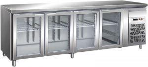 G-GN4100TNG - Tabla Refrigerada Ventilada GN1 / 1 Temp + 2 / + 8 ° C Puerta de Vidrio