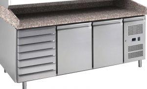 G-PZ2610TN-FC Tavolo refrigerato ventilato e banco pizza in acciaio AISI201