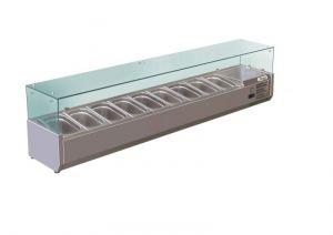 G-RI18033V - Superestructura refrigerada para pizzería con gafas - 180 cm - Forcar