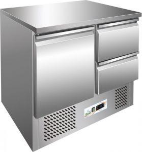 G-S901-2D- Saladette frío, temp. -12 ° -18 ° C, marco de acero inoxidable AISI304