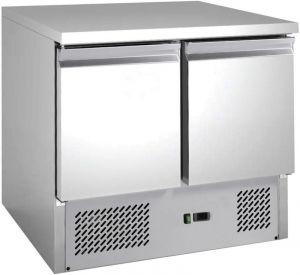 G-S901-FC Tavolo saladette a refrigerazione statica con 2 porte e telaio in acciaio AISI201