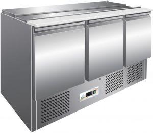 G-S903 Banco saladette refrigerato statico, telaio inox AISI304 termostato digitale