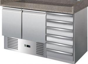 G-S903PZ-CAS-FC Tavolo refrigerato con funzione di banco pizza in acciaio inox AISI201