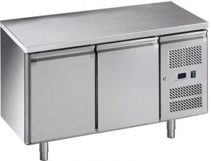 G-GN2100BT-FC Tavolo refrigerato ventilato, in acciaio inox AISI201, -18 -22C °