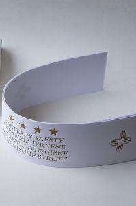 HY-0251 Strisce igieniche in carta  GOLD Garanzie di igiene  per WC  2000 pezzi