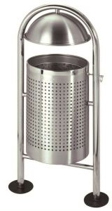T106062 Gettacarte in acciaio inox per esterno 30 litri