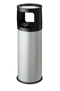 T775032 Poubelle-cendrier anti-feu métal gris 30 litres avec sable
