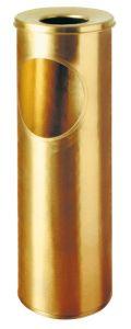 T700057 Corbeille-cendrier laiton 16 litres