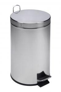 T101120 Pattumiera acciaio inox a pedale 12 litri (confezione da 4 pezzi)