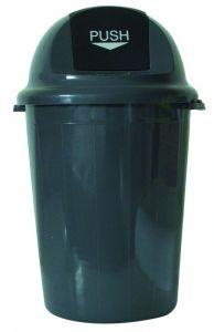 T102011 Gettacarte Push plastica grigio 80 litri (confezione da 4 pezzi)