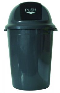 T102011 Push bin plastic grey 80 liters (multiple of 4 pcs)
