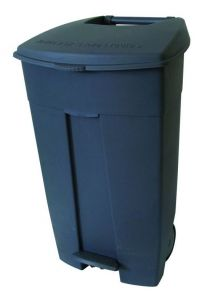 T102030 Mobile plastic pedal bin Grey 120 liters (Pack of 3 pieces)