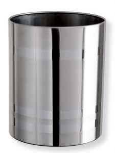 T103035 Papelera acero inox brillante 11 litros