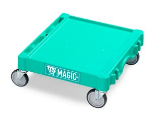 T09060400 Base Magic Mini - Verde - Ruote Ø 100 Mm