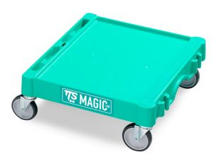 T09060411 Base Magic Mini - Verde - Ruote Con Freno Ø 125 Mm