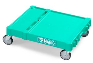 T09080412 Base Magic Piccola - Verde - Ruote per Esterni Ø 1