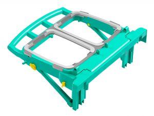 T090821 Portasacco Magic 2X70 L Pieghevole - Verde