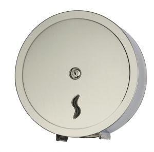 T105007 Distributore di carta igienica acciaio Inox AISI 304 brillante 400 metri