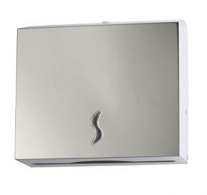 T105011 Distributore di carta asciugamani acciaio inox AISI 430 brillante 200 fogli