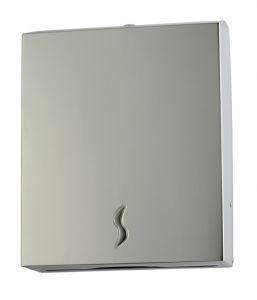 T105017 Distributore di carta asciugamani acciaio inox AISI 304 brillante 400 fogli