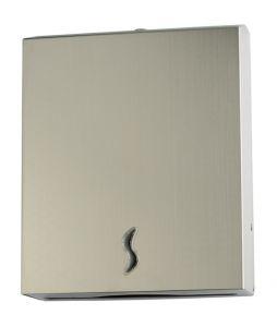 T105019 Distributore di carta asciugamani acciaio inox AISI 304 satinato 400 fogli