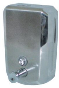 T105031 AISI 304 s. steel Soap dispenser push system 0.8 l.