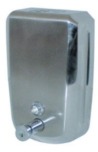 T105032 AISI 304 s. steel Soap dispenser push system 1,2 l.