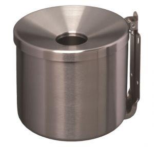 T106003 Portacenere murale in acciaio Inox satinato 2 litri