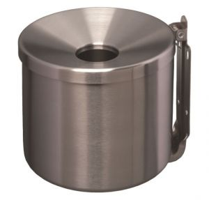 T106003 Stainless steel Wall mounted ashtray 2 liters