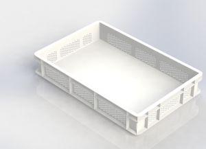 GEN-VAS010-FC Bandeja de pasta perforada cerrada 600x400 Altura 100 mm