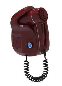 GHIBLI-R Asciugacapelli Ghibli Evo Rosso per uso alberghiero Doppia presa USB