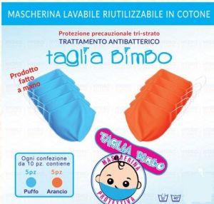 MASK-BABY Mascherina Precauzionale Lavabile Taglia Bimbo