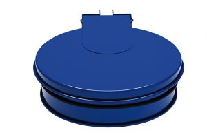 T601011 Bag holder with lid BLUE