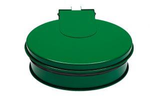 T601013 Portasacco tondo con coperchio in acciaio Verde