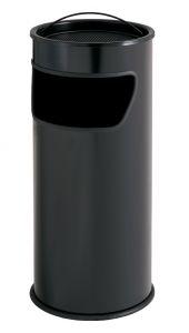 T775011 Black steel Ashbin 25 liters with sand