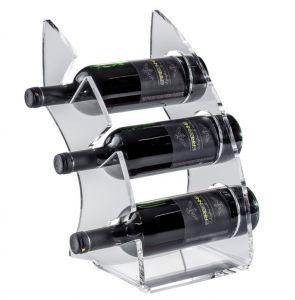 EV01301 CURVY 1 Espositore Trasparente in plexiglass per bottiglie ø 8,2 cm