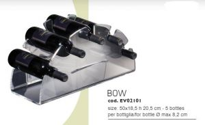 EV02101 BOW - Display vino da appoggio per bottiglie ø 8,2 cm