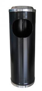 T790113 Portacenere-gettacarte metallo nero 11 litri
