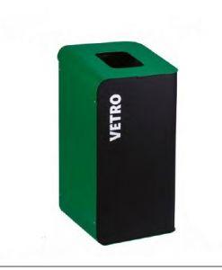 T789208 Gettacarte per la raccolta differenziata 80 litri - Verde