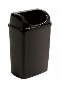 T907253 Gettacarte con coperchio a imbocco polipropilene nero 25 litri