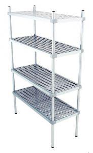 Scaffale in alluminio 4 ripiani dim. cm 150x50x160h code: SN50150H160