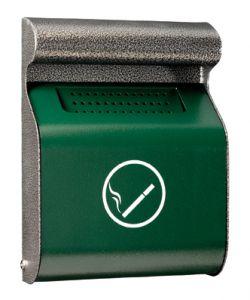 T103013 Portacenere murale acciaio verde-silver da esterno 3 litri